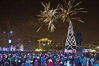 Празднование Нового года нацентральной площади Одинцово (фото)