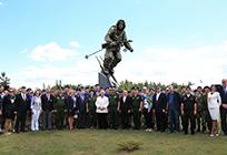 Памятник «Воин-Лыжник» появился впарке «Патриот»