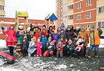 Цикл дворовых праздников «Зимние забавы» стартовал вЖаворонковском
