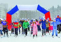 Более 120 человек приняли участие вежегодной Лыжной гонке вУспенском