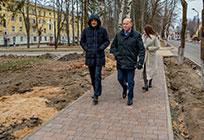 Дмитрий Голубков проверил качество дорожного ремонта вНикольском
