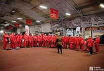 Молодежная сборная России похоккею посетила парк Вооружённых Сил РФ «Патриот»