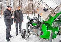 ВОдинцовском парке культуры испорта оборудуют первую лыжную трассу сискусственным снегом