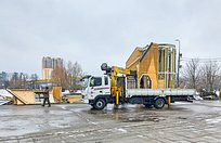 Нацентральной площади Одинцово демонтируют зимние горки