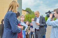 Дмитрий Голубков провел встречу сруководством Жаворонковской школы