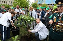 Андрей Иванов принял участие вакции «Лес победы»