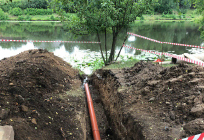 Незаконные земляные работы пресечены наберегу Немчиновского пруда