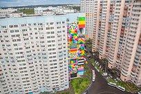 Порядка 20художников работают надсозданием уличного музея граффити вТрёхгорке