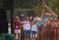 Дарья Огородникова изЗареченской школы стала двукратной чемпионкой мира посинхронному плаванию