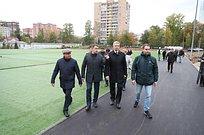 Андрей Иванов проверил ход реконструкции стадиона в8микрорайоне Одинцово