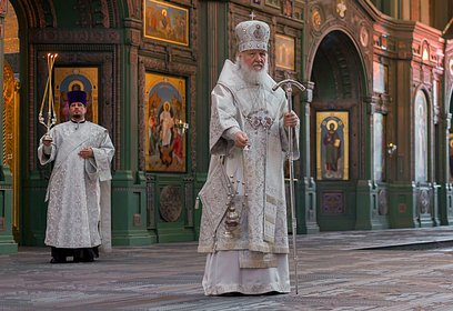 ВГлавном храме Вооруженных Сил России состоялась Божественная Литургия