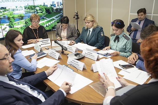 29апреля, состоялось 4-е в2019 году заседание комиссии попогашению задолженности поналогам иненалоговым доходам вовсе уровни бюджета Одинцовского района, Апрель