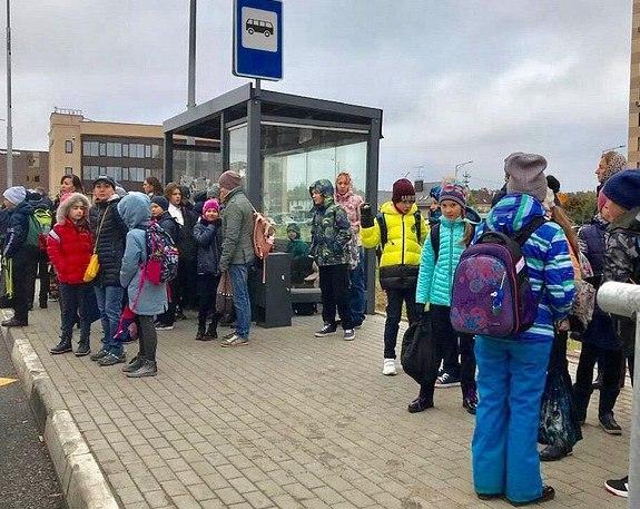 ВОдинцовском округе вподвозе детей вшколы задействовано 56автобусов, Ноябрь