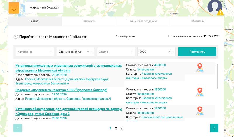 Жители Одинцовского округа могут принять участие винициативном бюджетировании, Май