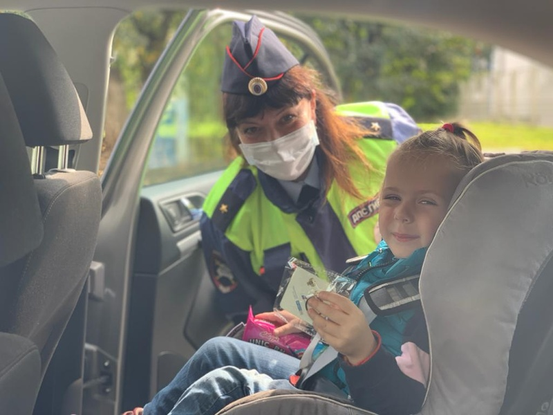 Сотрудники Одинцовской Госавтоинспекции провели профилактическую акцию «Ребенок-пассажир-пешеход», Сентябрь