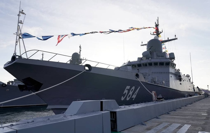 Оснащенный пушечным комплексом «Панцирь-М» корабль «Одинцово» вошёл всостав ВМФ, Ноябрь