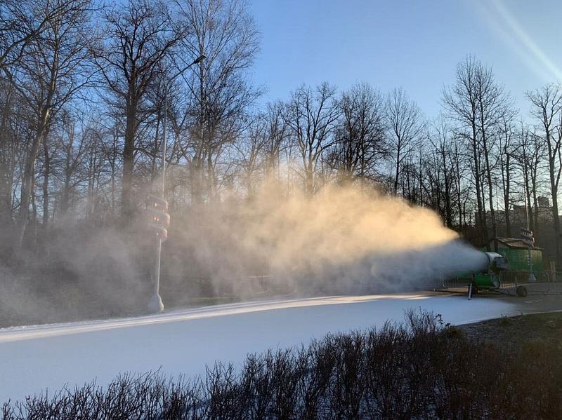 ЛРТ текст 1, ВОдинцовском парке культуры, спорта иотдыха протестировали систему искусственного оснежения